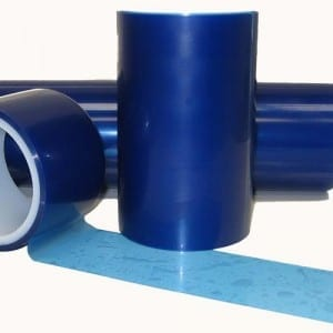 "Vinyl Surface Protection Tape, Translucent Blue, 1"" x 55'-0"