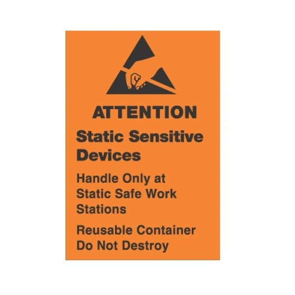 ESD Label, Handle Only at Static Safe Station
