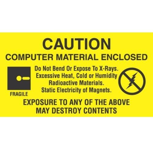 ESD LABEL, COMPUTER MATERIAL ENCLOSED